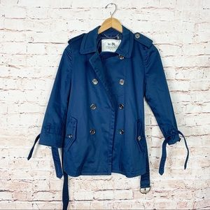 Coach Alexis Blue Tench Coat